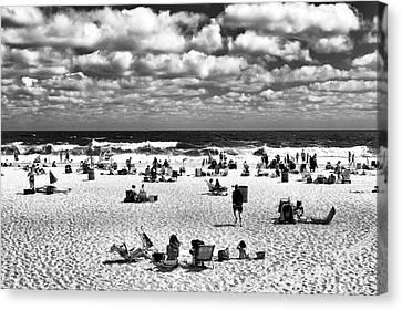 Beach Real Estate Mono Canvas Print