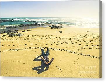 Beach Relaxation In Tasmania Canvas Print