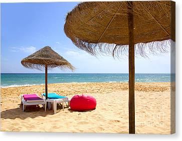 Beach Relaxing Canvas Print by Carlos Caetano