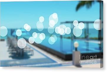 Canvas Print featuring the photograph Beach Resort Concept by Atiketta Sangasaeng