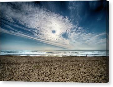 Beach Sand With Clouds - Spiagggia Di Sabbia Con Nuvole Canvas Print