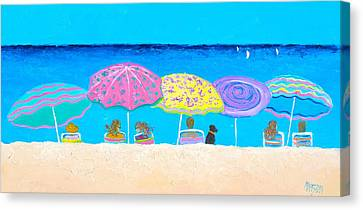 Beach Sands Perfect Tans Canvas Print by Jan Matson
