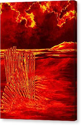 Beach Scene Canvas Print by Michael Vigliotti