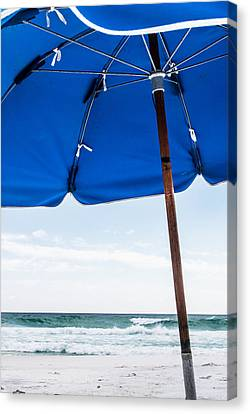 Beach Scene Canvas Print by Shelby  Young