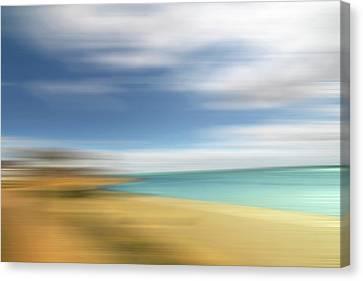 Beach Seascape Abstract Canvas Print by Gill Billington
