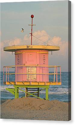 Beach Shack Canvas Print by Donald Tusa
