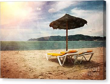 Beach Shader Canvas Print by Carlos Caetano