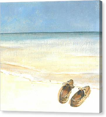 Beach Shoes Canvas Print