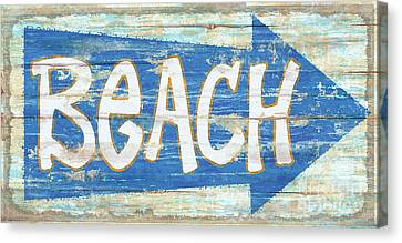 Canvas Print - Beach Sign by James Piazza