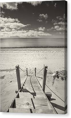 Beach Stairs Wellfleet Canvas Print by Dapixara Art