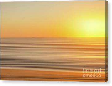 Beach Sunrise Blur Canvas Print by Randy Steele