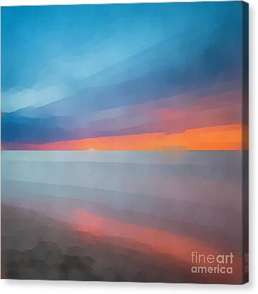 Beach Sunset Abstract 2 Canvas Print