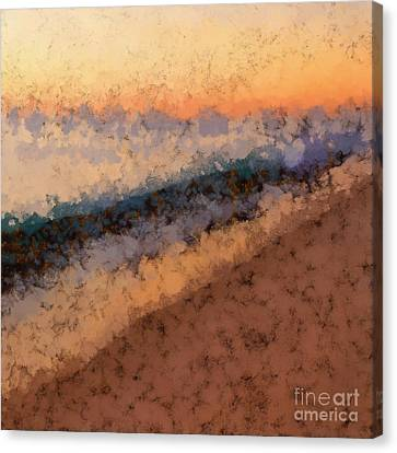 Beach Sunset Abstract Canvas Print by Edward Fielding