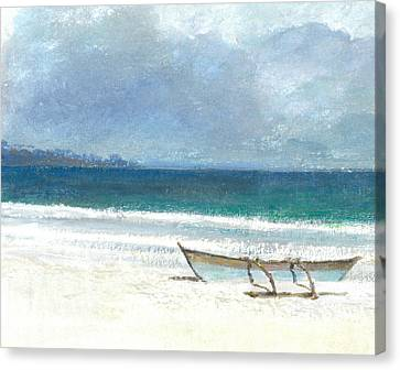 Beach Thalassa Canvas Print by Lincoln Seligman