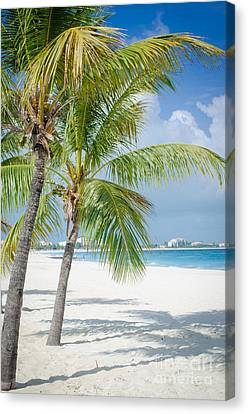 Beach Time In Turks And Caicos Canvas Print by Mike Ste Marie