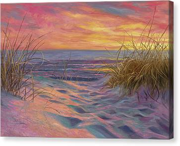Cape Cod Scenery Canvas Print - Beach Time Serenade by Lucie Bilodeau