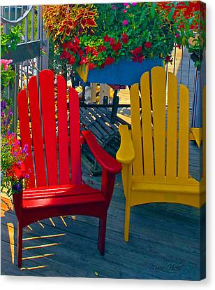 Beach Town Charm Canvas Print