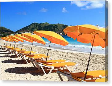 Beach Umbrellas Canvas Print