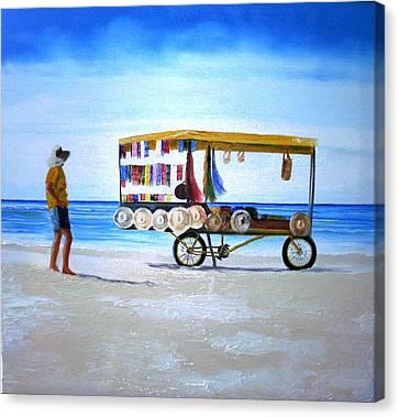 Beach Vendor Canvas Print