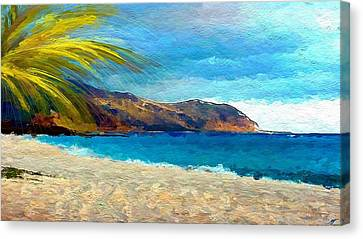 Beach View Canvas Print by Anthony Fishburne