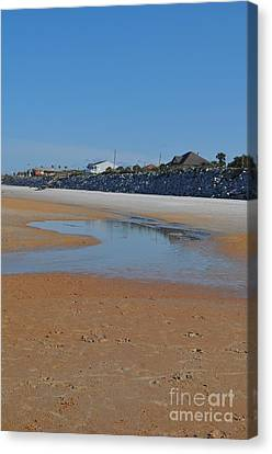 Beach View  Canvas Print