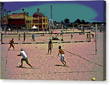 Beach Volleyball Canvas Print by Tom Kelly