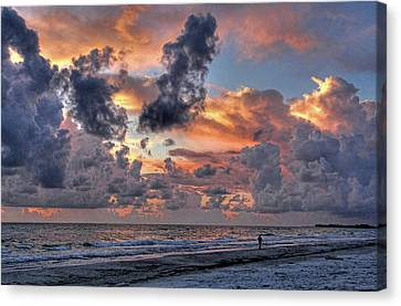 Beach Walk - Florida Seascape Canvas Print