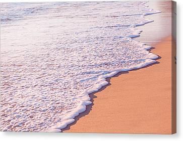 Beach Waves At Sunset  Canvas Print by Ariane Moshayedi