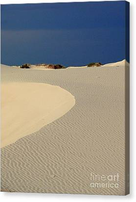 Beach With No Water Canvas Print by Mark Grayden