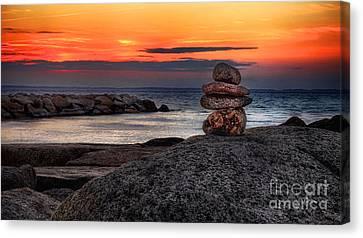 Canvas Print featuring the photograph Beach Zen by Mark Miller