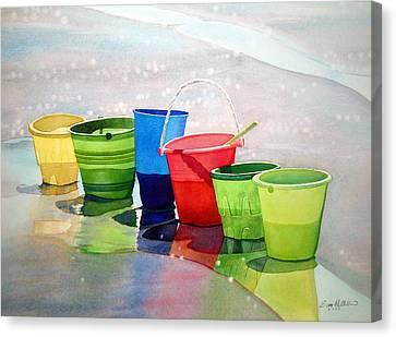 Beachbuckets Canvas Print by Scott Mulholland