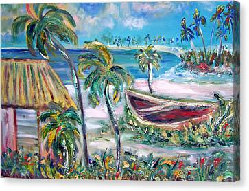 Patricia Taylor Canvas Print - Beached And Happy by Patricia Taylor