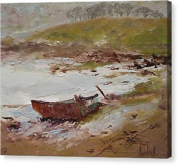 Beached Canvas Print by Barbara Andolsek