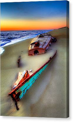 Beached Beauty Canvas Print by Dan Carmichael