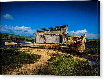 Beached Boat Canvas Print