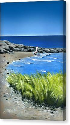 Beached Buoy Canvas Print