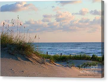 Beaches Of Outer Banks Nc Canvas Print by Laurinda Bowling