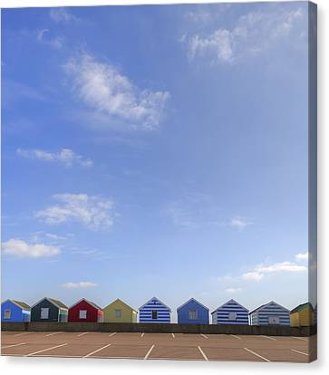 Beachhuts Canvas Print by Joana Kruse