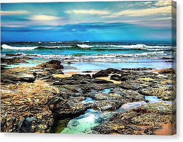 Canvas Print featuring the photograph Beachscape At Hungry Head  by Wallaroo Images