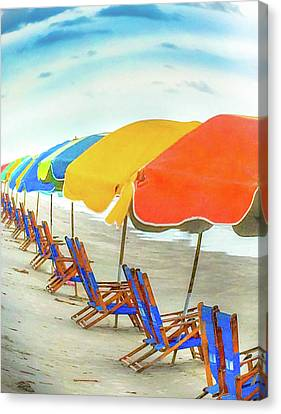 Beachtime Canvas Print by Barbara Griswold-Kridner
