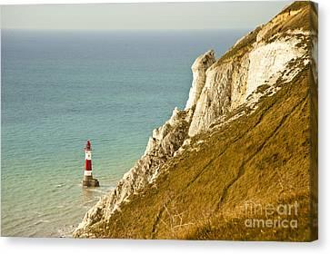 D700 Canvas Print - Beachy Head Lighthouse by Donald Davis