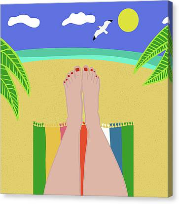 Beachy Keen Canvas Print by Nicole Wilson