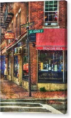 Beacon Hill - Boston Canvas Print by Joann Vitali