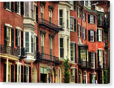 Beacon Hill Brownstones - Boston Canvas Print