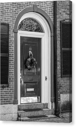 Beacon Hill Door Bw Canvas Print