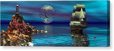 Beacon Of Hope Canvas Print by Claude McCoy