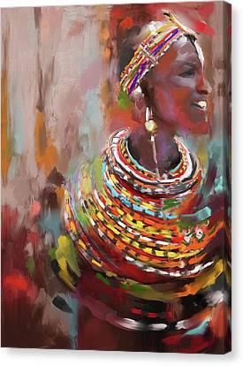 Beaded Beauty 451 I Canvas Print by Mawra Tahreem