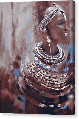 Beaded Beauty 451 Iv Canvas Print by Mawra Tahreem