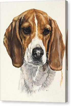 Beagle Canvas Print by Barbara Keith