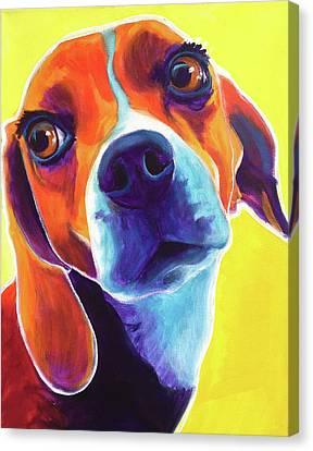 Beagle - Marcie Canvas Print by Alicia VanNoy Call